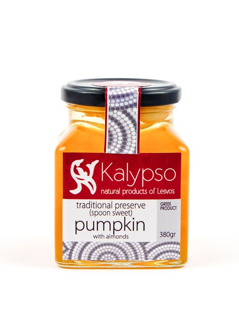 Traditional preserve (spoon sweet) Pumpkin with almonds 380gr