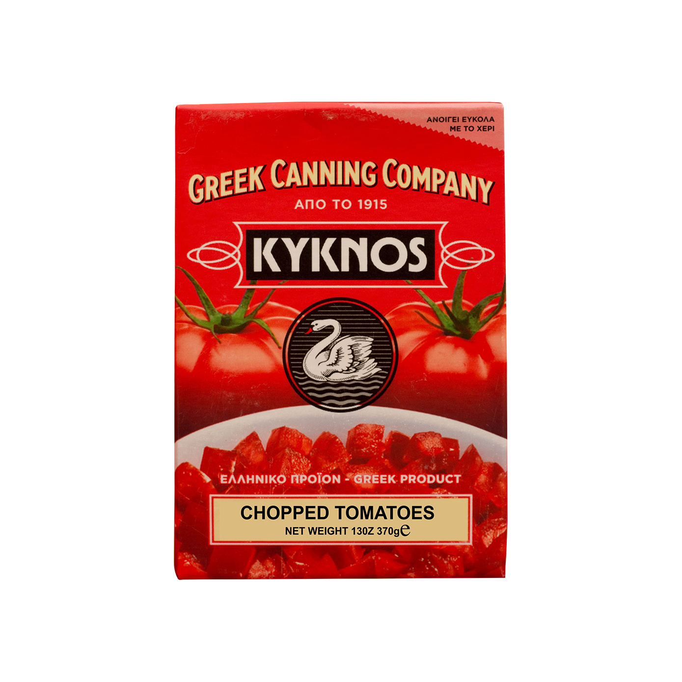 Kyknos Chopped Greek tomatoes in tomato juice 370gr