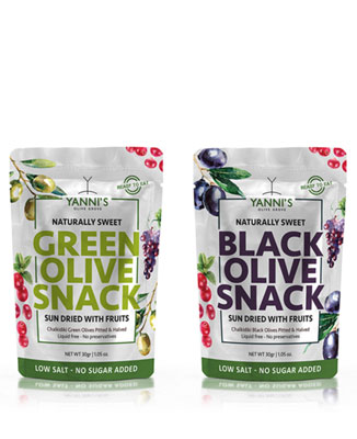 Olive Snacks Naturally Sweet Sun Dried with Fruits 30gr