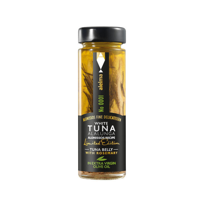 White tuna Alalunga Alonissos with rosemary in extra virgin oil 156gr